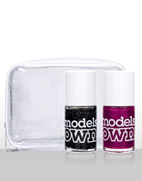 models own exclusive glitter nail polish duo £8.00